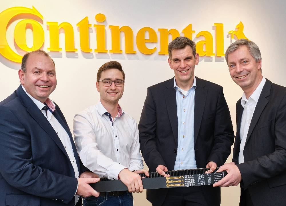 Looking forward to working together (from left): Christoph Serini (Agravis), Alexander Behmann (Continental), Michael Grote (Menke) und Jens Hoffmann (Continental).